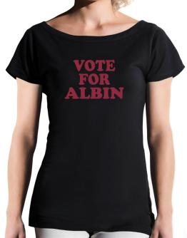 Vote For Albin T-Shirt - Boat-Neck-Womens