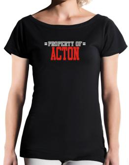 """ Property of Acton "" T-Shirt - Boat-Neck-Womens"