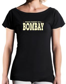 PROUD PARENT OF A Bombay T-Shirt - Boat-Neck-Womens