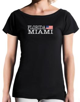 Miami State T-Shirt - Boat-Neck-Womens