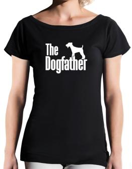 The dogfather Fox Terrier T-Shirt - Boat-Neck-Womens