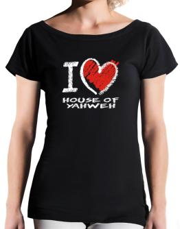 I love House Of Yahweh chalk style T-Shirt - Boat-Neck-Womens