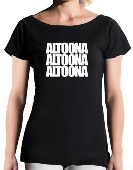 Altoona three words T-Shirt - Boat-Neck-Womens