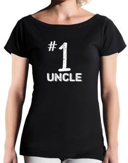 Number 1 Auncle T-Shirt - Boat-Neck-Womens