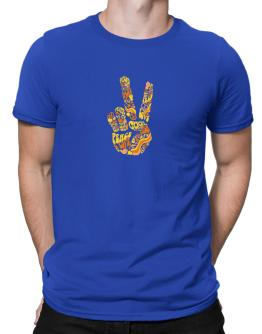Peace Sign - Hand Collage Men T-Shirt