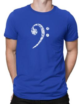 Bass Clef worn style Men T-Shirt