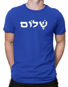 Shalom peace hebrew Men T-Shirt