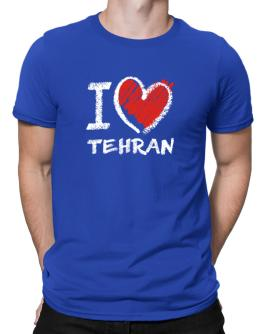 I love Tehran chalk style Men T-Shirt