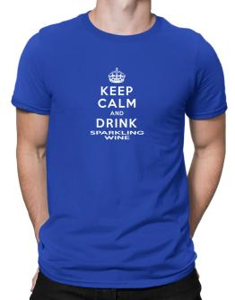 Keep calm and drink Sparkling Wine Men T-Shirt