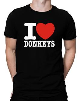 I Love Donkeys Men T-Shirt