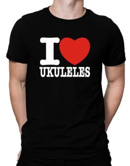 I Love Ukuleles Men T-Shirt