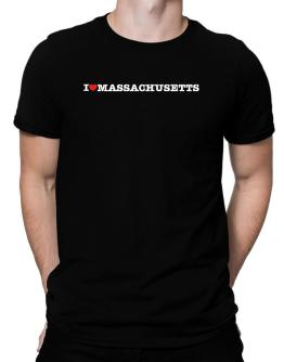 I Love Massachusetts Men T-Shirt