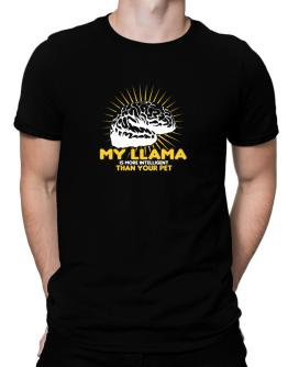 My Llama Is More Intelligent Than Your Pet Men T-Shirt