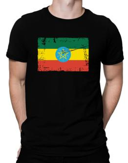 """ Ethiopia - Vintage Flag "" Men T-Shirt"