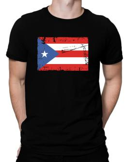 """ Puerto Rico - Vintage Flag "" Men T-Shirt"