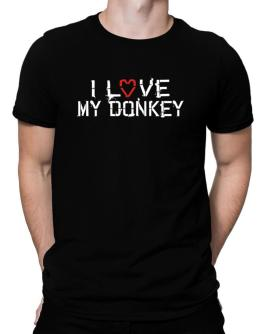 I Love My Donkey Men T-Shirt