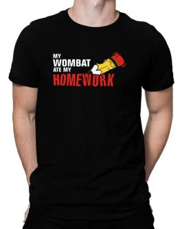 My Wombat Ate My Homework Men T-Shirt