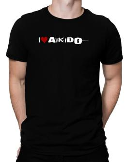Aikido I Love Aikido Urban Style Men T-Shirt