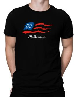 Melbourne - Us Flag Men T-Shirt