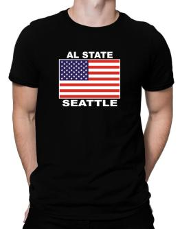 """ Seattle - US Flag "" Men T-Shirt"