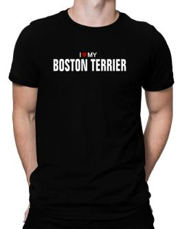 I Love My Boston Terrier Men T-Shirt