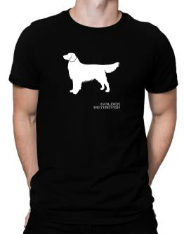 Golden Retriever Stencil / Chees Men T-Shirt