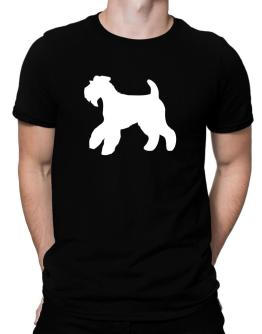 Airedale Terrier Silhouette Embroidery Men T-Shirt