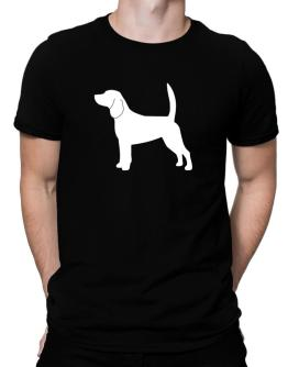 Beagle Silhouette Embroidery Men T-Shirt