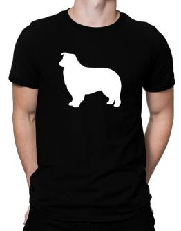 Polo de Border Collie Silhouette Embroidery