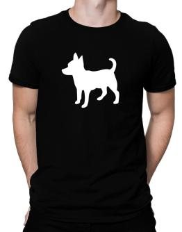 Chihuahua Silhouette Embroidery Men T-Shirt