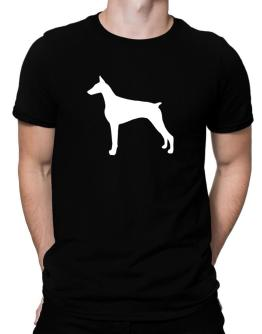 Polo de Doberman Pinscher Silhouette Embroidery