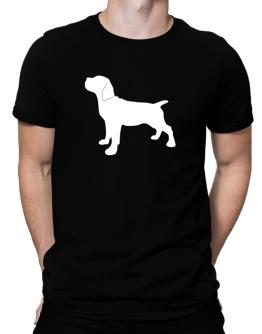 Cane Corso Silhouette Embroidery Men T-Shirt