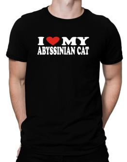 I Love My Abyssinian Men T-Shirt