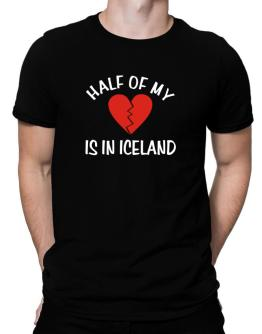 Half Of My Heart Is In Iceland Men T-Shirt