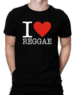 I Love Reggae Men T-Shirt
