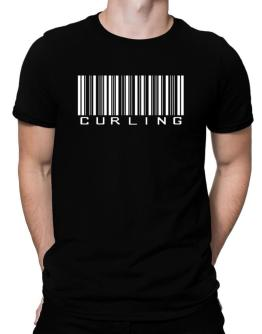 Curling Barcode / Bar Code Men T-Shirt