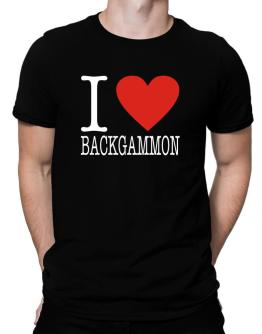 I Love Backgammon Classic Men T-Shirt