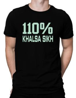 110% Khalsa Sikh Men T-Shirt