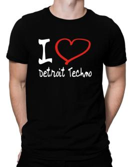 I Love Detroit Techno Men T-Shirt