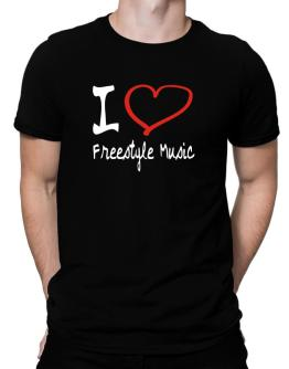 I Love Freestyle Music Men T-Shirt