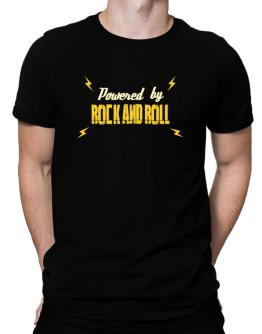 Powered By Rock And Roll Men T-Shirt
