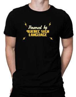 Powered By Quebec Sign Language Men T-Shirt