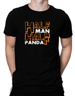 Half Man , Half Panda Men T-Shirt