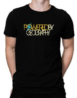 Powered By Geography Men T-Shirt