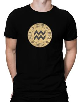 Aquarius - Circle Sign Men T-Shirt