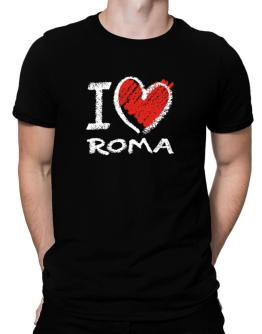 Polo de I love Roma chalk style