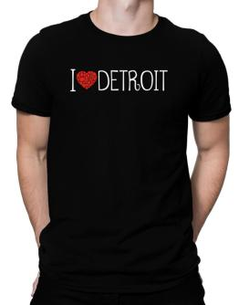 I love Detroit cool style Men T-Shirt