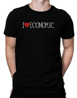 I love Economic cool style Men T-Shirt