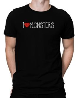 I love Monsters cool style Men T-Shirt