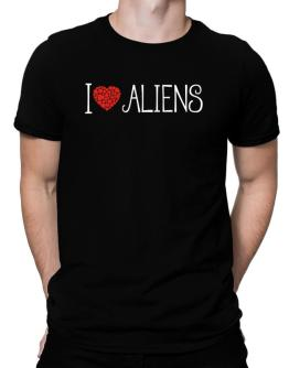I love Aliens cool style Men T-Shirt